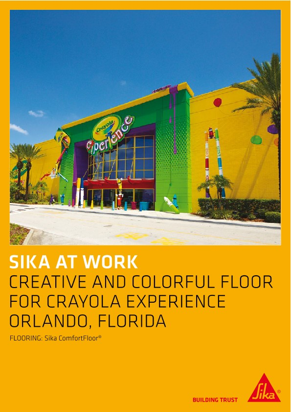 Floor for Crayola Experience Center in Orlando, Florida, USA